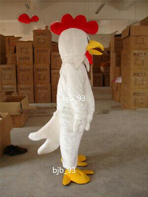 Pop Halloween Costumes 2019 (2019 Popular Adult Halloween White Chicken Rooster Mascot Costume fancy)