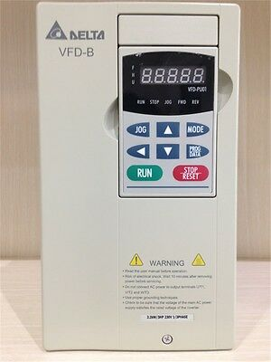 Vfd022b21a Delta Vfd-b Inverter Frequency Converter 2.2kw 3hp 1 Phase 220v 400hz