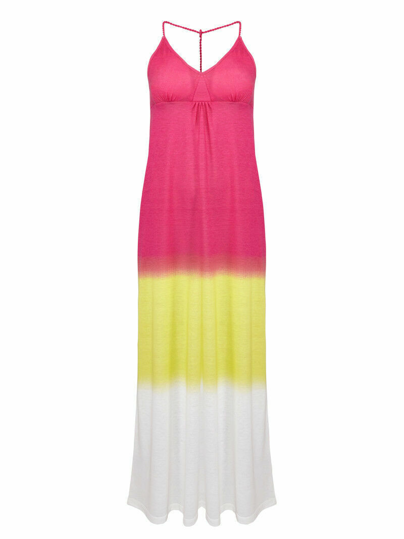 Maxi Strand Kleid Luftig Locker Esmara Pink Gelb Weiss Gr S Neu Ebay