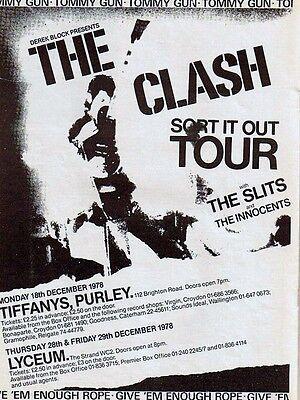 "The Clash Tiffanys 16"" x 12"" Photo Repro Concert Poster"