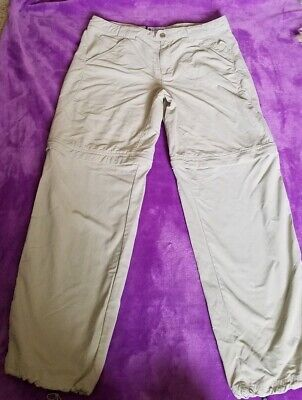- Columbia Sportswear Titanium Capri Pants Khaki Nylon Sz 12 Hiking  convertible