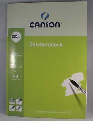 Zeichenblock, DIN A4, blanko, 120 g/qm 20 Blatt beide kurze Seiten perforiert