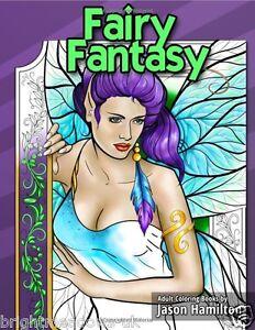 Fairy Fantasy Adult Colouring Book Fairies Elves Magical Mystical Enchanted Art