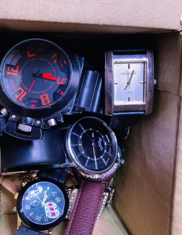 New+ Vintage Mens Watch Lot 1.3 Pounds ALL WORK NOW designer Chronograph Leather