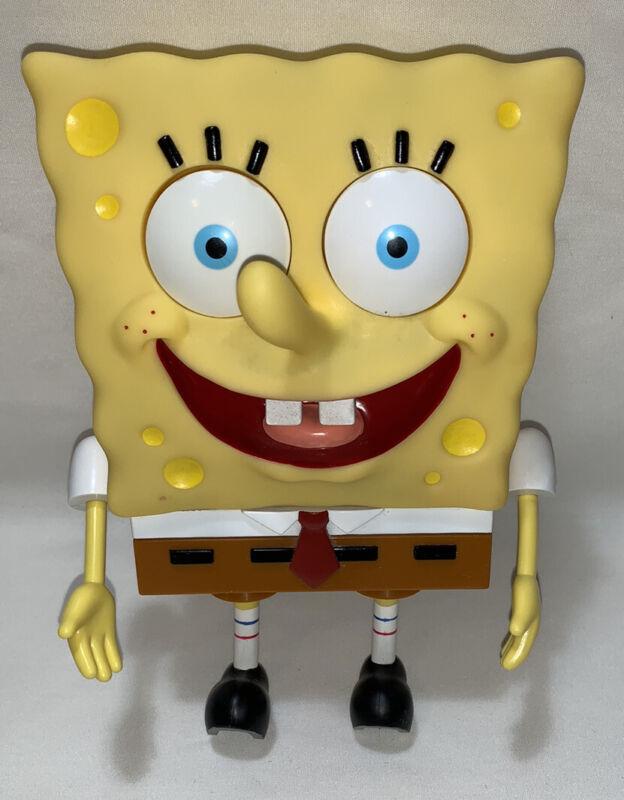 "9"" Spongebob Squarepants Eye-Popping Talking Squeeze Me 2002 Viacom Nickelodeon"