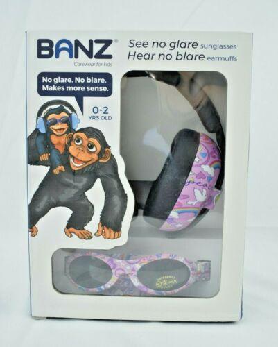 Banz Carewear - No Glare Sunglasses & No Blare Earmuffs - Peace Doodle (New)