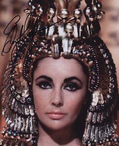 ELIZABETH TAYLOR Signed 'Cleopatra' Photograph - Beautiful Film Actress Preprint