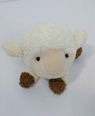 Plush small mini terry cloth sheep lamb Chosun cream brown feet bean bag flaws