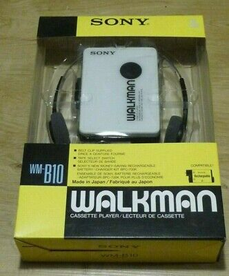 WALKMAN SONY  WM B-10 With headphones and box Batterie Not Included Vintage