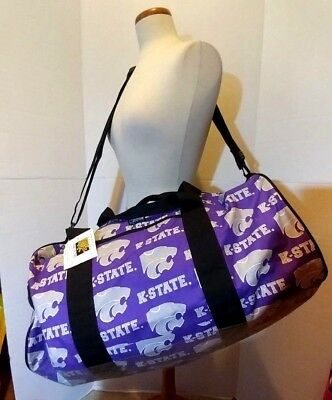 NCAA Kansas State Wildcats Large Duffel Bag by Broad Bay New w/tag Logo pattern Ncaa Kansas State Wildcats Pattern