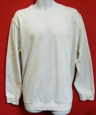 VANS OFF THE WALL MENS SWEATSHIRT JUMPER TOP SIZE L WHITE CREW NECK