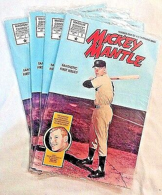 FOUR MICKEY MANTLE{ BASEBALL'S GREATEST HEROES] # 1DEC 1991 MAGNUM COMICS.