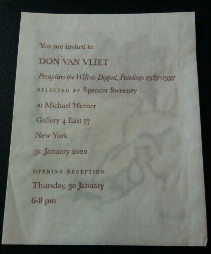 DON VAN VLIET CAPTAIN BEEFHEART Parapliers Werner gallery invitation 2020 RARE