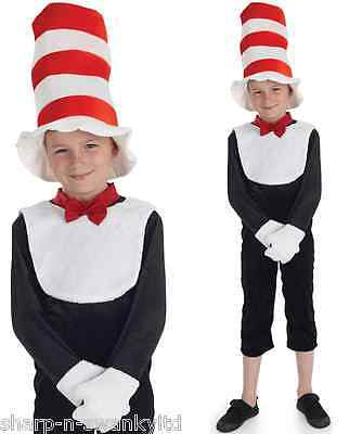 Jungen Mädchen Katze mit einen Hut Tier Büchertag Kostüm Verkleiden Outfit 6-12 ()