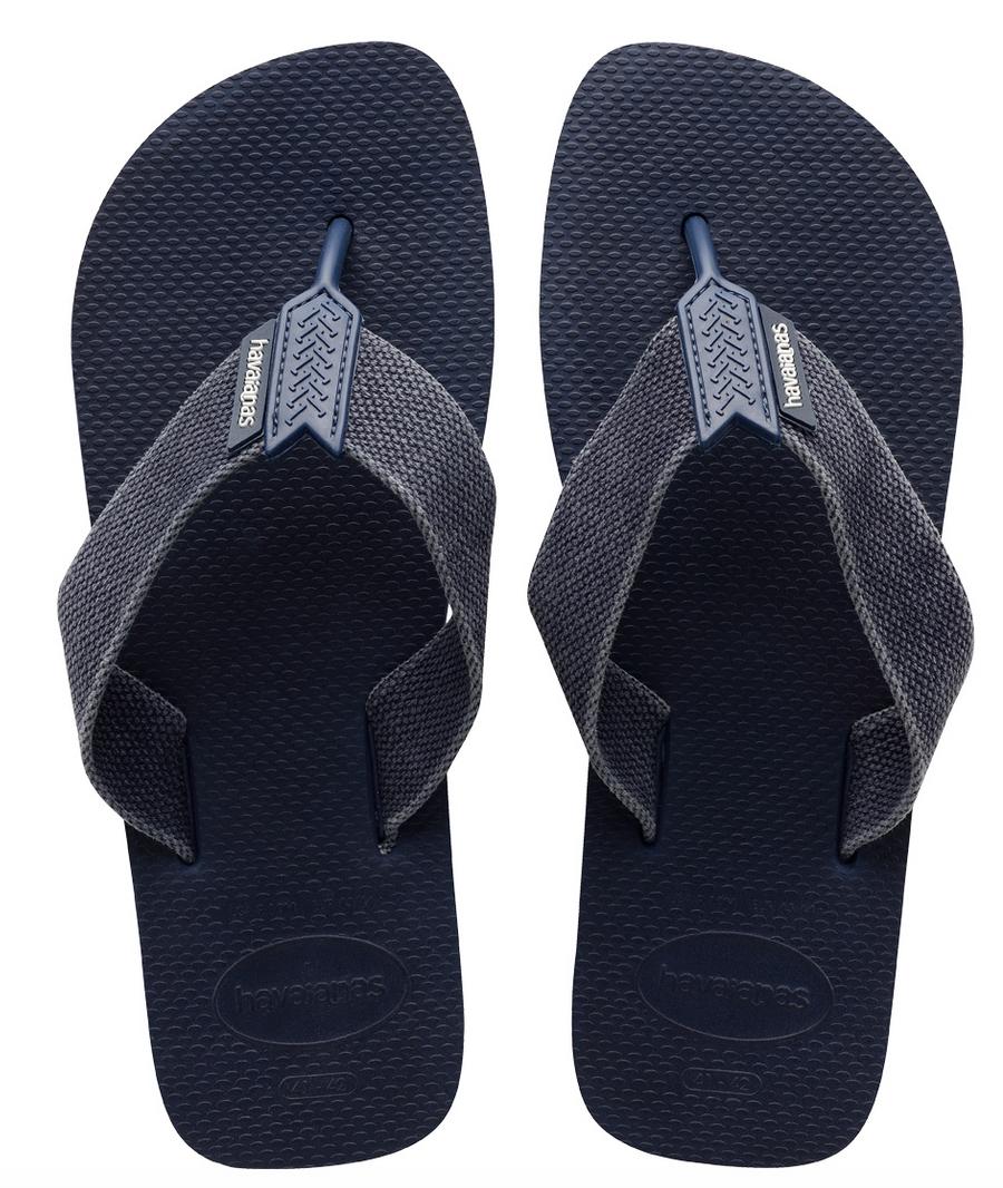 Havaianas Men`s Brazilian Flip Flops Urban Basic Sandals Blu