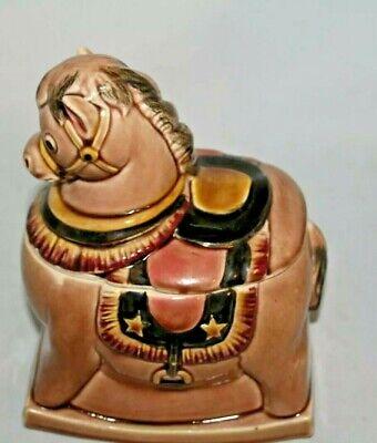 Vintage Rocking Horse Cookie Jar Japan