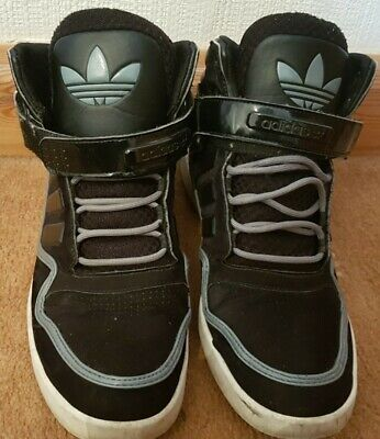 Adidas High Top Trainer Sneakers Shoes Black UK 10 GREAT Condition L@@@K for sale  Shipping to South Africa