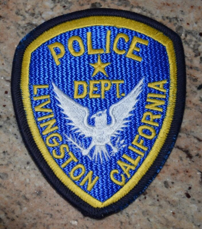 "Livingston CA  Police Patch   ""Clean"""