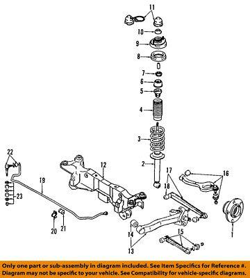 Dodge CHRYSLER OEM 91-96 Stealth Rear-Shock Absorber or Strut MB631741