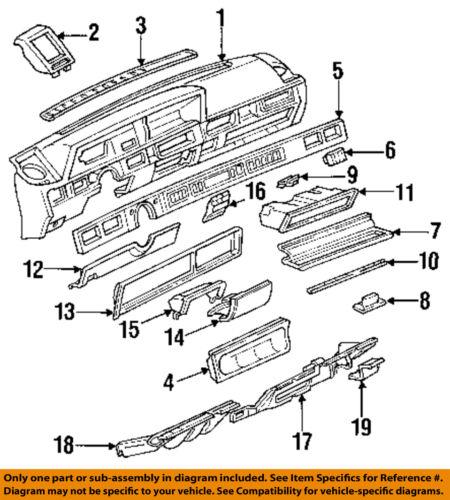 Oldsmobile Gm Cutlass Ciera Instrument Panel Dash Ashtray