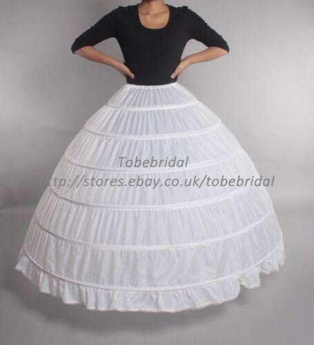 Grande Sottoveste Sottogonna Bianco crinoline per Sposa Donna Abito da sposa