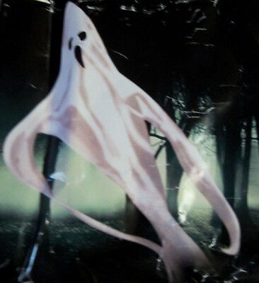 HALLOWEEN Ghost 7ft Tall BIG PROP White w/black eyes indoor or out side Hanging - Big Halloween Props