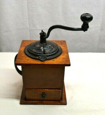 Vintage Imperial Arcade Mfg Co Hand Crank Cast Iron Coffee Grinder