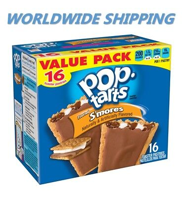 Pop-Tarts Frosted S'mores Toaster Pastries Value Pack 16 Ct WORLD SHIPPING (S Mores Pop Tarts)