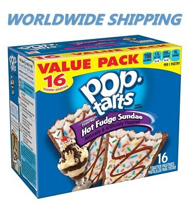 - Pop-Tarts Frosted Hot Fudge Sundae Toaster Pastries 16 Ct WORLD SHIPPING