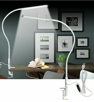 Table Lamp Clip Office Desk Lamp LED USB Light x5 Dimable Level Eye Protection