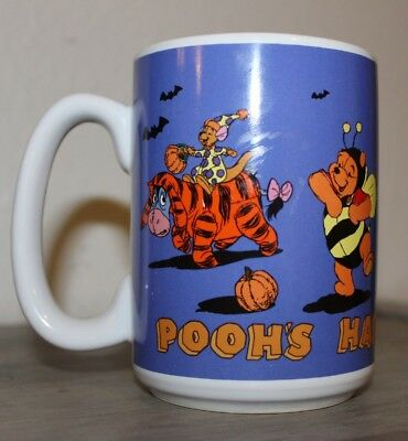 DISNEY STORE Happy Halloween Mugs - Pooh, Piglet, Eeyore, Tigger