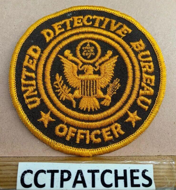 UNITED DETECTIVE BUREAU OFFICER (POLICE) SHOULDER PATCH