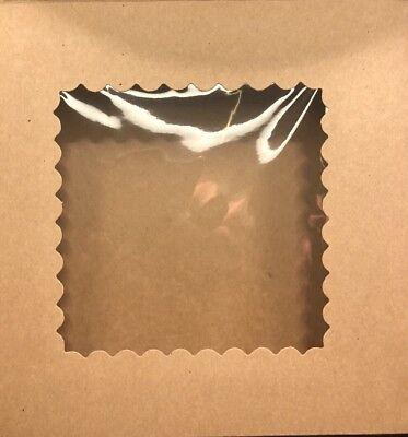30 Premium Semi Automatic 8x8x2.5 Brown Kraft Bakery Or Pie Box W Window
