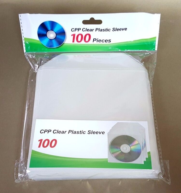 500 CD DVD CPP Clear Plastic Sleeve with Flap Envelopes 100micron