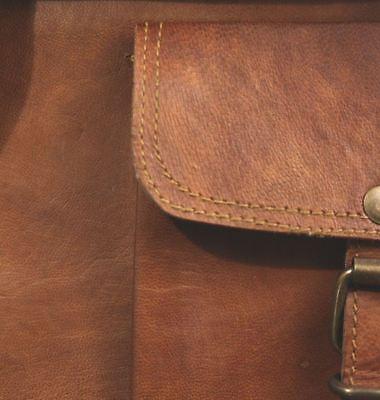 New Men's Real Leather Brown Tote Bag Shoulder Bag Messenger Briefcase
