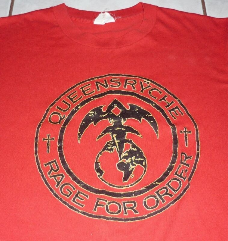 QUEENSRYCHE Rare ORIGINAL 1986 RAGE FOR ORDER Vtg Tour Shirt! concert vtg