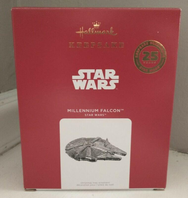 Hallmark Keepsake 2021 STAR WARS Millennium Falcon Metal Ornament 25 Years