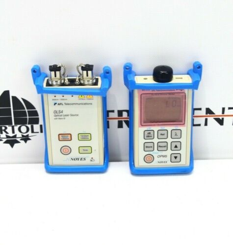 AFL Noyes SMLP5-5 ST SM MM Fiber Optic Loss Test Set OLS4 OLS-4 OPM5 SMLP 5-5