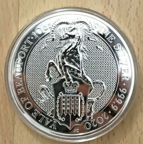 2020 Great Britain 10 oz Silver Yale Of Beaufort Queen's Beast Mint Capsule EBUX