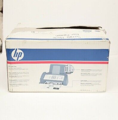 Hp 640 Fax Plain Paper Inkjet Quality Fax Machine New With Open Box Cb782a