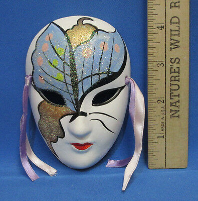 Painted Porcelain Mardi Gras Mask Wall Hanging ...