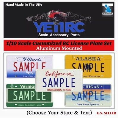 1/10 RC Scale Accessories License Plates (1-Set) CUSTOMIZED For Crawlers/Trucks](Cheap Plate Sets)