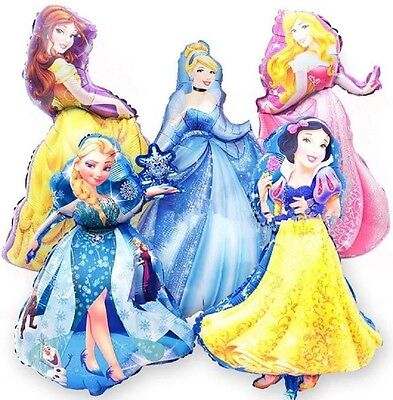 Set of 5 XL Walt Disney Princess BIRTHDAY PARTY Balloons Decorations Supplies + - Disney Princess Party Decor