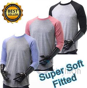 Baseball T Shirts 3 4 Sleeve Super Soft Classic Fitted