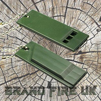 Survival Whistle - Loud Decibel Emergency Distress Compact Slim - Gear Kit