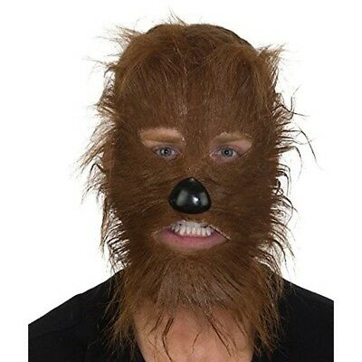 Brown Wolf Mask (Brown Werewolf Mask Costume Cosplay Teen Wolf Wolverine Wolfman Chewbacca)