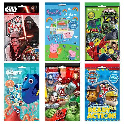 Over 700 Stickers Disney Star Wars Peppa Pig Paw Patrol Avengers Spiderman Dory