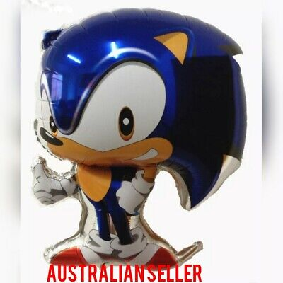 SONIC THE HEDGEHOG BIRTHDAY BALLOONS  68cm OFFICIAL PARTY SUPPLIES  Foil Toy AUS ()