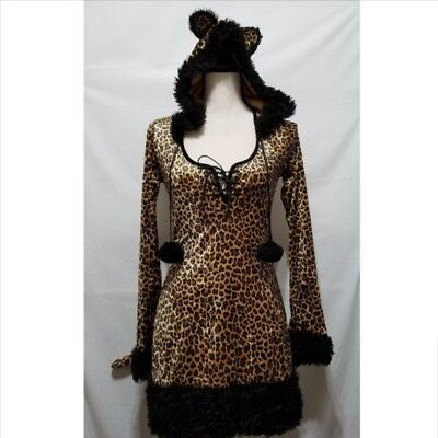 Dreamgirl Cheetah Luscious Womens Halloween Costume S Hooded Dress Leopard - Womens Cheetah Halloween Costume
