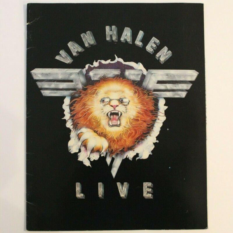 VAN HALEN 1982 Tour Program + Sticker + Concert Review of show